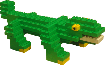 Header picture of Crocodile made of Lego (Duplo) Bricks